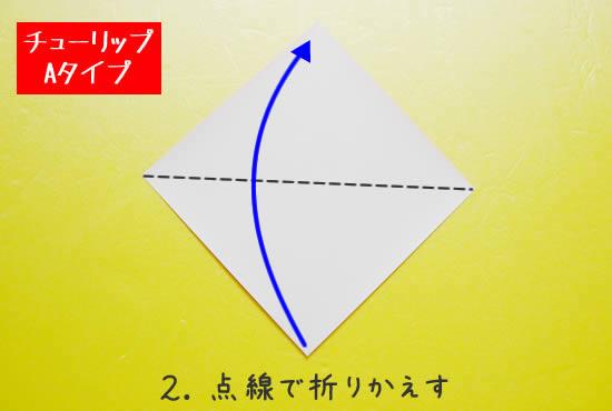 チューリップA 花の折り方2