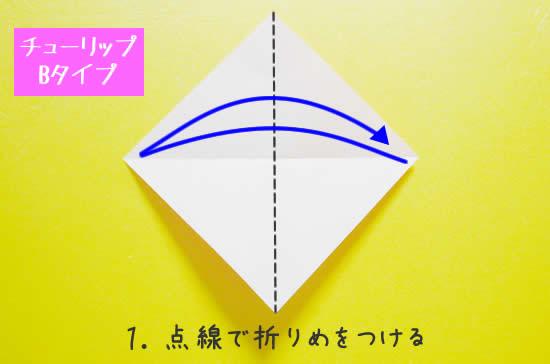 チューリップB 花の折り方1