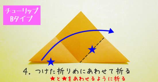 チューリップB 花の折り方4