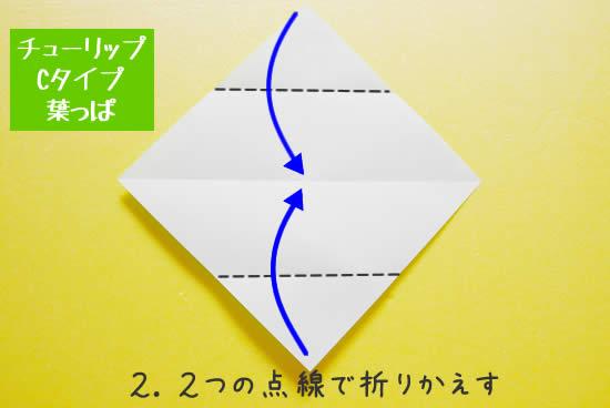 チューリップCタイプ 葉っぱの折り方2