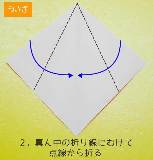 うさぎの折り方2
