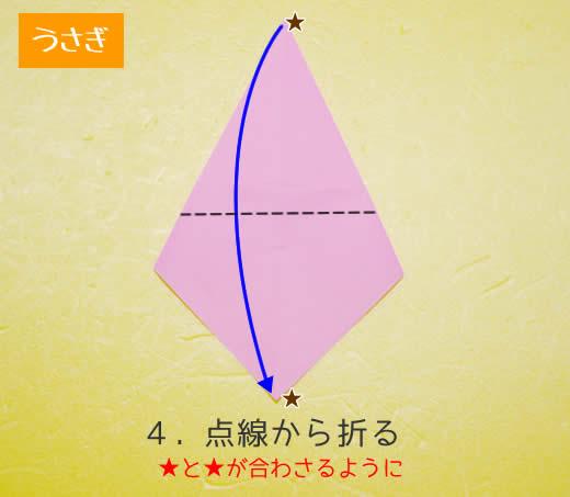 うさぎの折り方4
