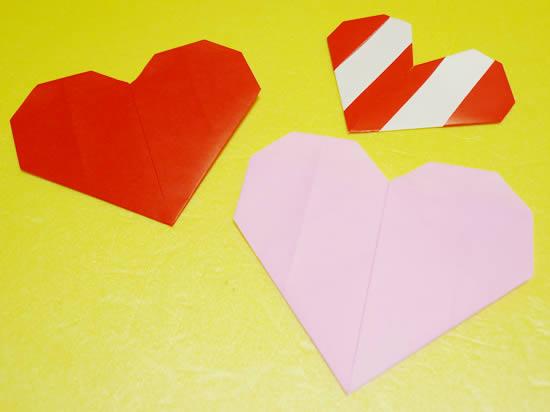 2種類のハート折り紙
