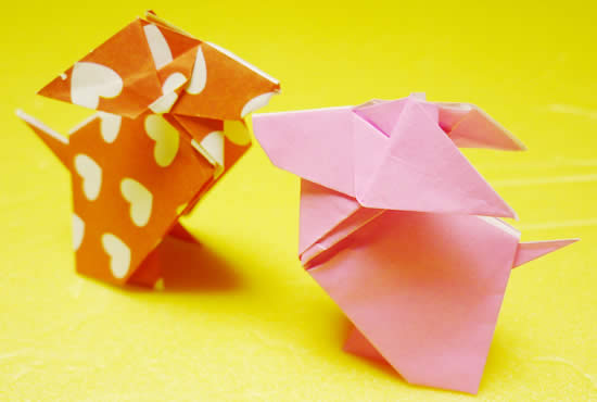 折り紙で作るカンタンでかわいいウサギ