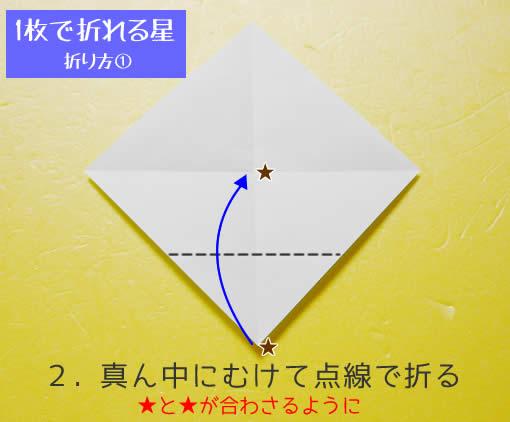 星の折り方① 手順2