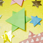 子供でもカンタン!星の折り方!折り紙1枚でキラキラ星!
