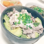 アボカド豆腐納豆丼