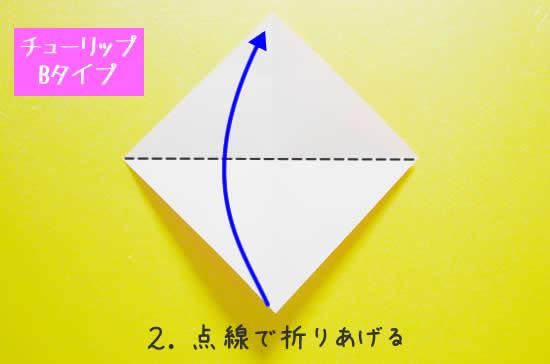 チューリップB 花の折り方2