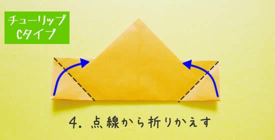 チューリップC 花の折り方4