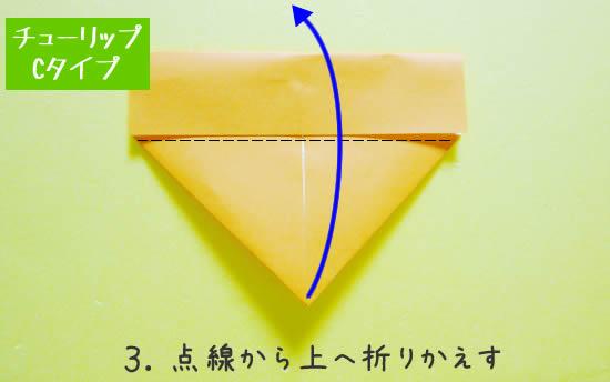 チューリップC 花の折り方3