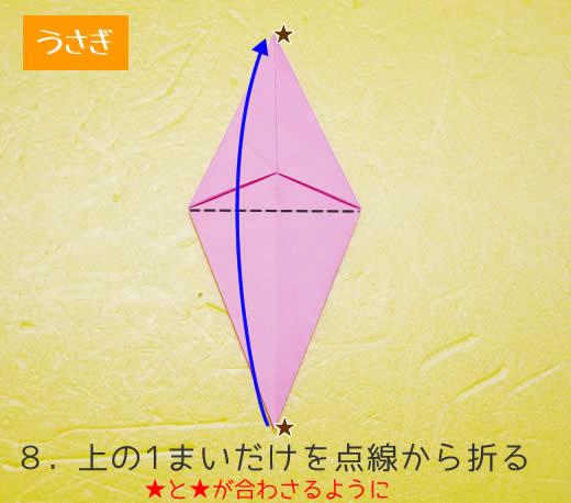うさぎの折り方8