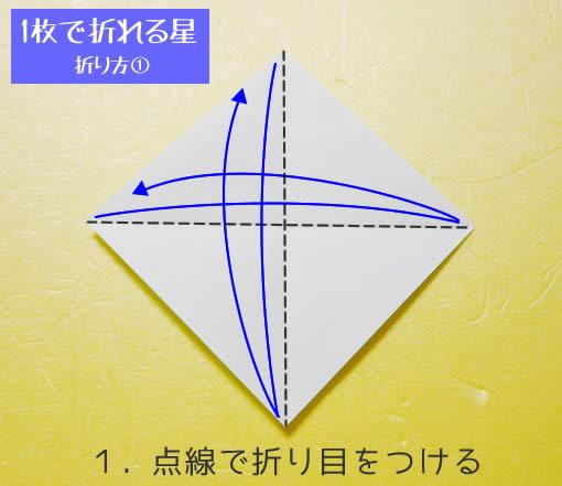 星の折り方① 手順1