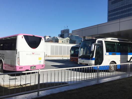 バスタ新宿4F 高速バス乗り口へ向かう途中